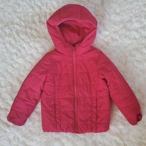 Size 4 GAP Pink Girls Puffer Jacket Coat